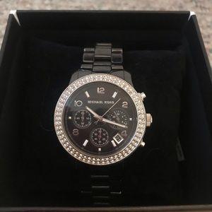 Michael Kors Women's Ceramic Black Watch
